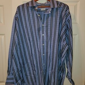Blue and grey stripped shirt